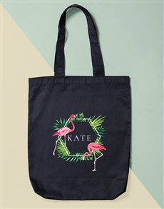 gifts: Personalised Flamingo Tote Bag!