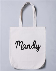 gifts: Personalised Glitter Name Tote Bag!