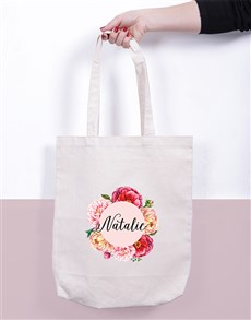 gifts: Personalised Floral Tote Bag!