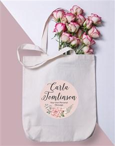 gifts: Personalised Floral Wonder Tote Bag!