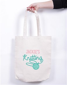 gifts: Personalised Knitting Tote Bag!