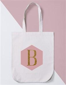 gifts: Personalised Geo Intitial Tote Bag!