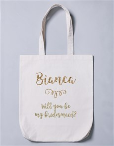 gifts: Personalised Bridesmaid Tote Bag!
