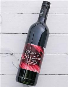 gifts: Personalised Christmas Brushstroke Wine!