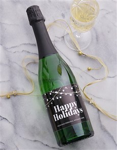 gifts: Personalised Festive Lights Bubbly!