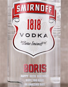gifts: Personalised Smirnoff Vodka!
