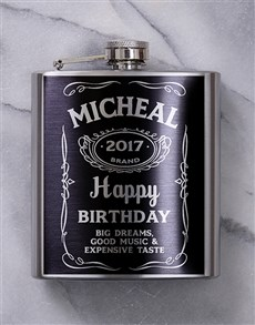 gifts: Personalised Jack Daniels Hip Flask!