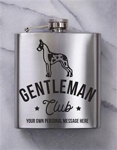 gifts: Personalised Gentleman Hip Flask!