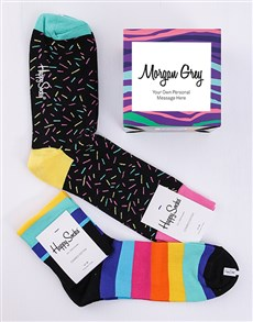 gifts: Personalised Colour Burst Happy Socks  Giftbox!