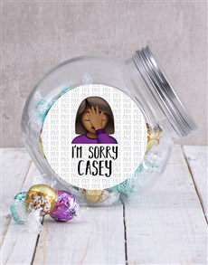 gifts: Personalised Sorry Candy Jar!