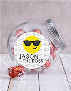 gifts: Personalised The Boss Emoji Candy Jar!