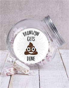 gifts: Personalised Gets It Done Candy Jar!