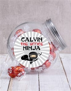 gifts: Personalised Office Ninja Mens Candy Jar!