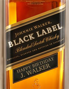 gifts: Personalised Johnnie Walker Black!