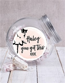 gifts: Personalised You Got This Candy Jar!