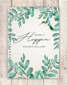 gifts: Personalised Make It Happen Notebook!