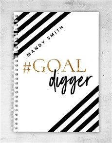 gifts: Personalised Goal Digger Notebook!