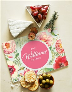 gifts: Personalised Floral Design Glass Chopping Board!