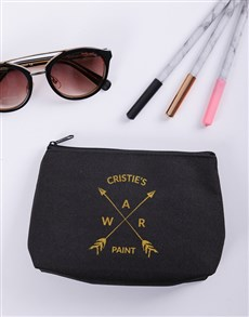 gifts: Personalised War Paint Cosmetic Bag!