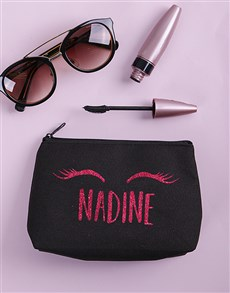 gifts: Personalised Lashes Cosmetic Bag!