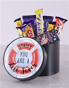 gifts: Personalised Life Saver Chocolate Hat Box!