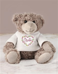 gifts: Personalised Heart Flower Teddy!