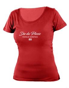 gifts: Personalised Familie Kersfees Ladies T Shirt!