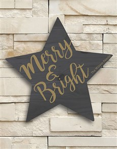 gifts: Personalised Merry and Bright Wall Art!