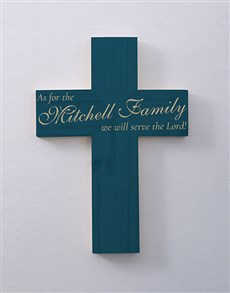 gifts: Personalised Serve The Lord Cross Wall Art!