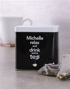 gifts: Personalised Relax Tea Tin!
