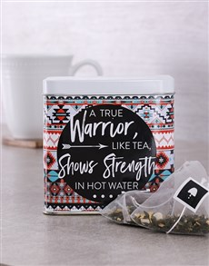 gifts: Personalised Warrior Tea Tin!