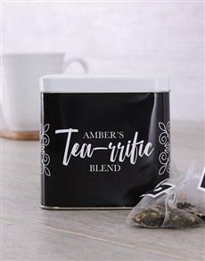 gifts: Personalised Tearrific Tea Tin!
