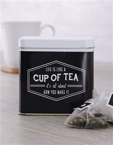 gifts: Personalised Cup of Tea Tin!