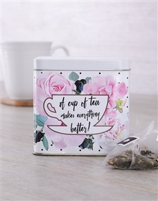 gifts: Personalised Get Well Tea Tin!