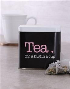 gifts: Personalised  Hug Tea Tin!