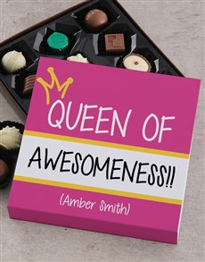 gifts: Personalised Queen Of Awesomeness Choc Tray!
