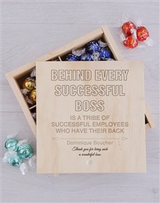gifts: Personalised Successful Boss Lindt Crate!