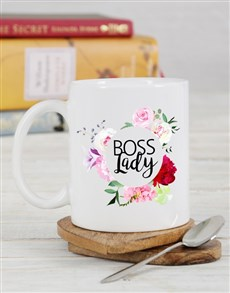gifts: Personalised Floral Boss Lady Mug!