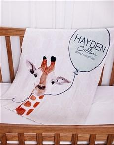 gifts: Personalised Animal Baby Fleece Blanket!