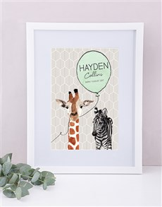gifts: Personalised Framed Animal Print!