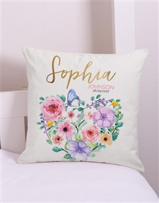 gifts: Personalised Floral Scatter Cushion!