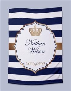 gifts: Personalised Prince Baby Fleece Blanket!