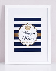 gifts: Personalised Framed Prince Print!