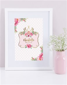 gifts: Personalised Framed Queen Print!