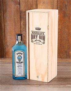 gifts: Personalised Dry Gin Booze Crate!