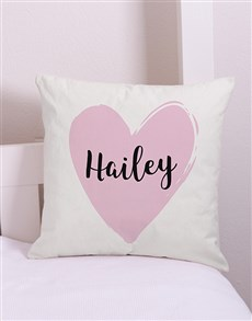 gifts: Personalised  Heart Scatter Cushion!