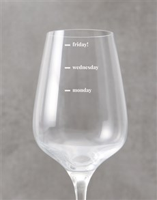 gifts: Personalised Wine Levels Wine Glass!