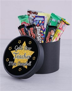 gifts: Personalised Gold Star Choc Hat Box!