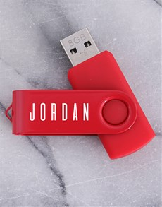 gifts: Personalised Red 8G USB!