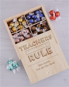 gifts: Personalised Teachers Rule Lindt Tray!